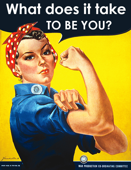 "Original poster image from FreeVintagePoster.com, ""Rosie the Riveter"""